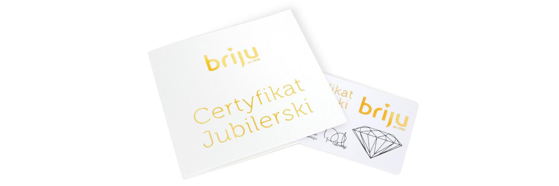 Obrączki z certyfikatem
